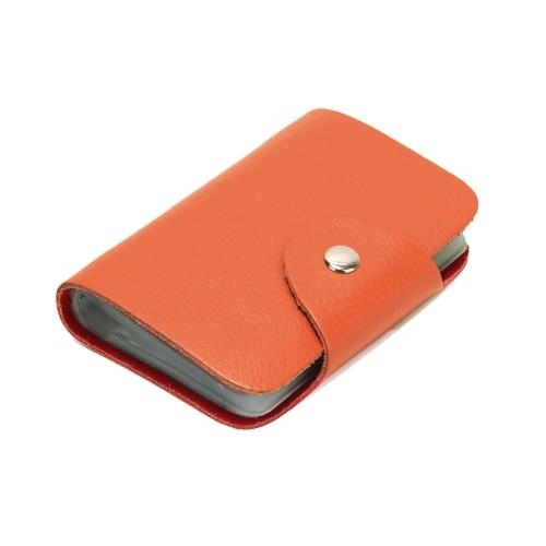 Nueva moda mujeres hombres tarjeta titulares cuero genuino negocio ID tarjeta de crédito caja monedero Unisex