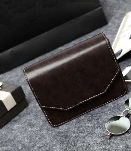 Mulheres retrô saco de ombro PU couro botão magnético Crossbody Messenger Bag