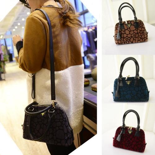 Мода роскошных женщин тотализатор искусственного меха плечо Messenger мешок Мини-сумочка серый/бордовый/Браун/бирюза фото