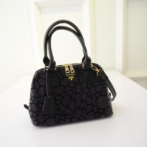Totalizador de lujo de las mujeres de moda piel sintética hombro Messenger Bag Mini bolso gris/Borgoña/marrón/turquesa