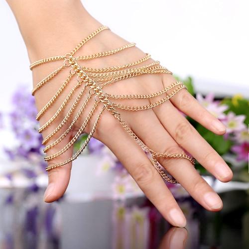 Euro-American Punk Style Alloy Tassel Hand Chain/Bracelet for Girls
