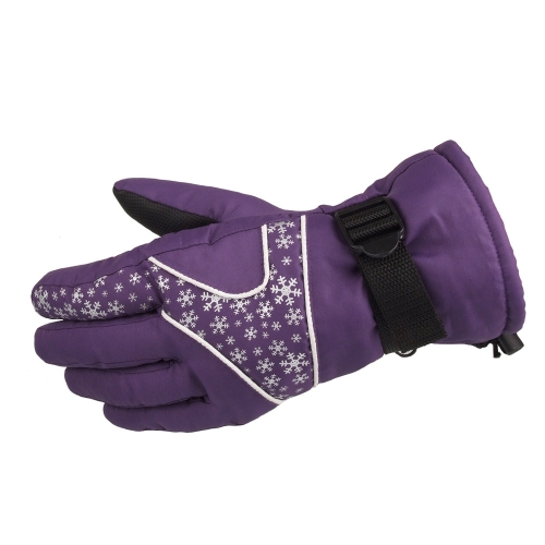 Snowboard Skiing Riding Cycling Climbing Mountaineering Sports Snowflake Gloves Outdoor Water-resistant Windproof Winter Thermal Thick Warm Women