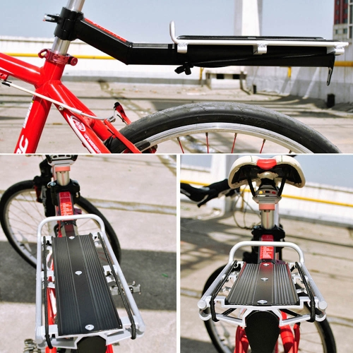 Lixada puesto de bastidor asiento trasero posterior estante exposiciones Carrier de bicicletas en aleación De Aluminio Remoción e instalación rápida para bike bicicleta bici ciclismo MTB