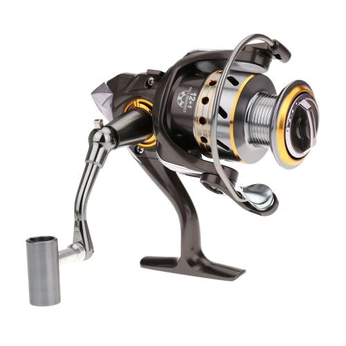 Lixada 12+1BB Rodamientos De Bolas CNC Carrete de Pesca Spinning Izquierda / derecha intercambiable Mango plegable DK3000 5.2:1