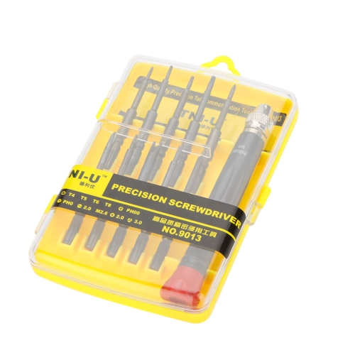 NO.9013 11 in 1 Ratchet  Precision Screwdriver Set Telecommunication Tools Repair Tools Kit for Phone PC Notebook TV