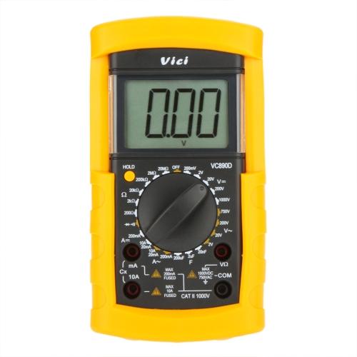 Vici VICHY VC890D Digital Multimeter DMM AC/DC Amperemeter Voltmeter Ohmmeter W / Kapazitiv Test