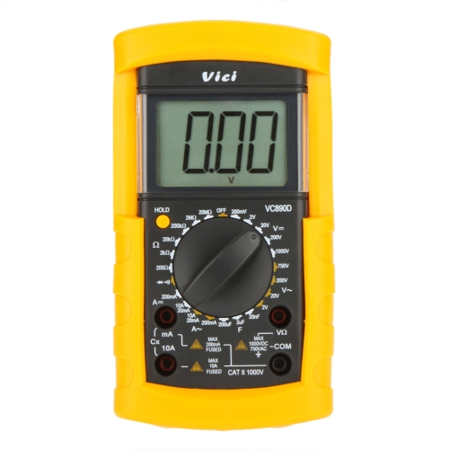 Vici VICHY VC890D Digital Multimeter DMM AC/DC Ammeter Voltmeter Ohmmeter W/ Capacitance Test