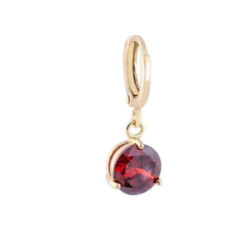 1pair circón de cristal claro K 18 oro plateado Vintage Retro pendientes gota colgante regalo de joyería para mujer dama