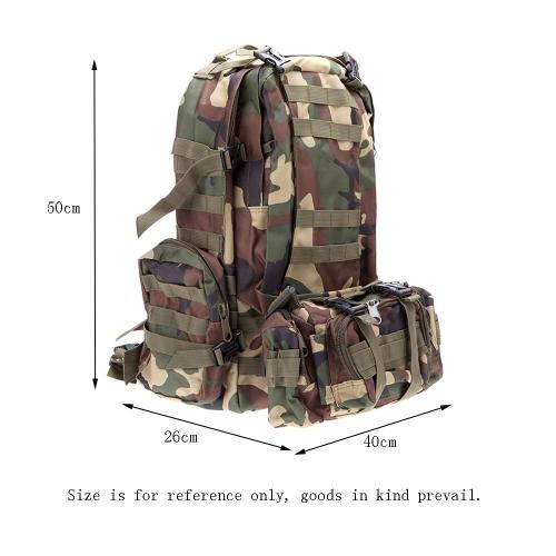 Mochila militar multifunción viaje de mochila Tactical Outdoor Camping Senderismo deportivo bolso