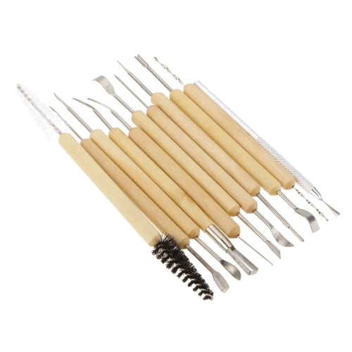 11pcs Burins Tools Wax Pottery Clay Sculpture Carving Modeling Tools DIY Craft