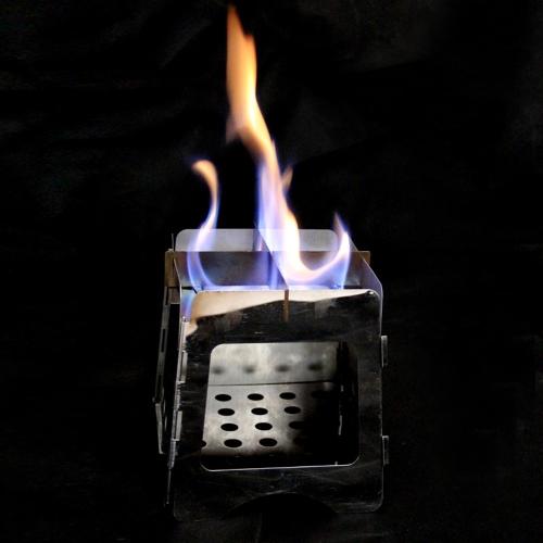 Portátil de acero ligero plegable madera estufa bolsillo Alcohol estufa al aire libre cocina barbacoa Camping mochilero