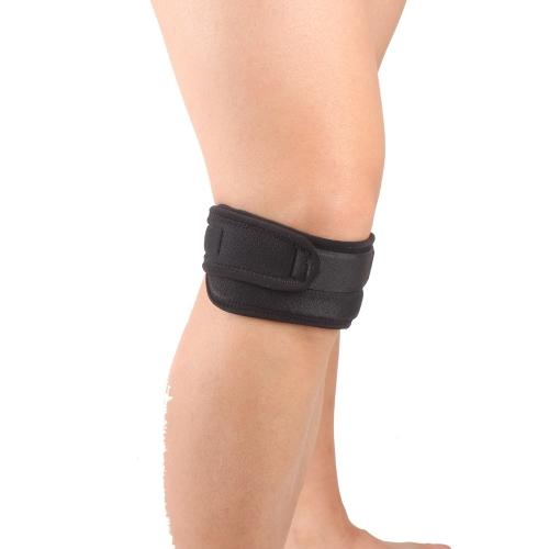 Lixada SX540 Verstellbare Patella Protector Guard Pad-Belted Sport Knee Brace schwarz