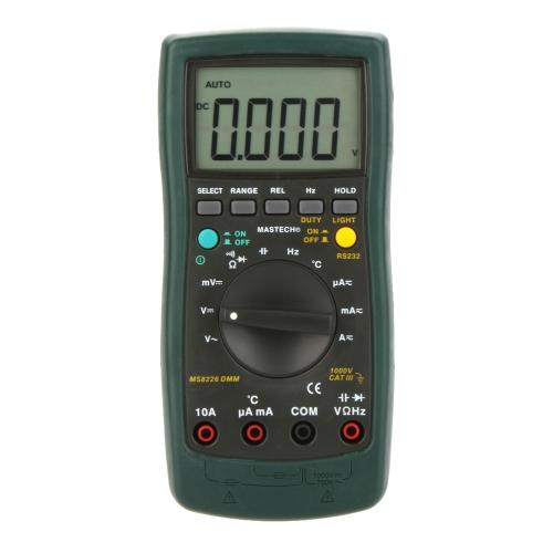 MASTECH MS8226 Handheld RS232 Auto Range Digital Multimeter DMM Capacitance Frequency Temperature Tester