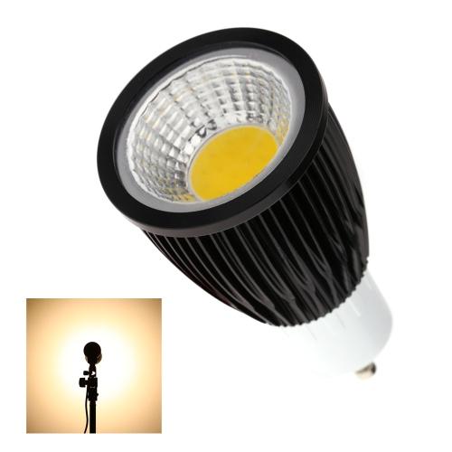 GU10 7W COB светодиодный прожектор лампа лампа экономии энергии высокой яркости теплый белый черный 85-265V
