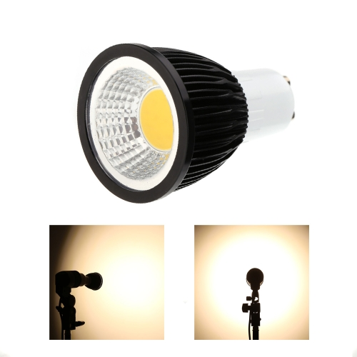 GU10 5W COB светодиодный прожектор лампа лампа экономии энергии высокой яркости теплый белый черный 85-265V
