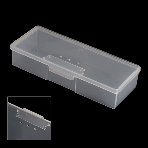 Caixa de armazenamento portátil de plástico vitrine para jóias grânulos comprimidos Nail Art dicas