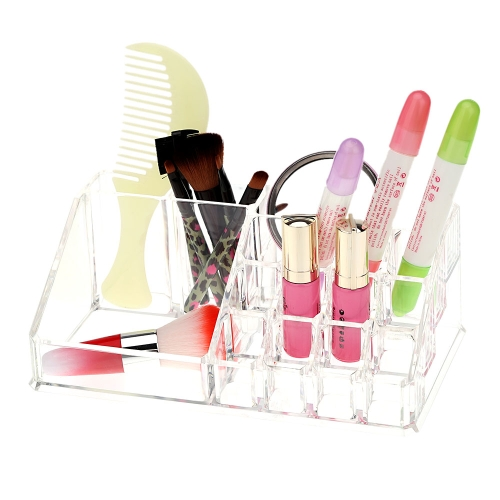 Transparent Crystal Desktop Cosmetics Storage Organizer Rack Accessories Jewelry Finishing Box