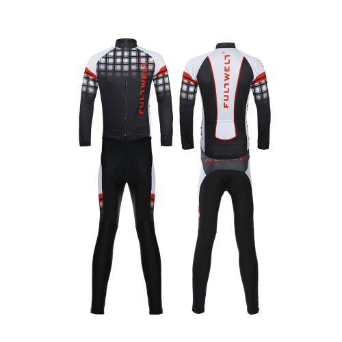 Cycling Clothing Set Sportswear Bicycle Bike Outdoor Long Sleeve Jersey + Pants Breathable Men Image