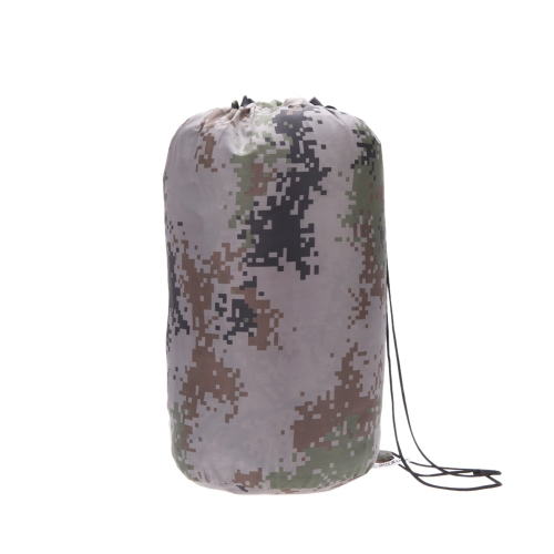 190T 超軽量封筒フード付き屋外旅行キャンプ ナイロン防水迷彩アダルト スリーピング バッグ