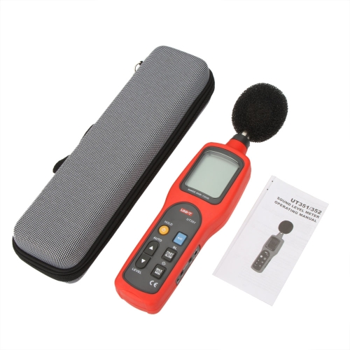 UNI-T UT351 Digital Sound Level Meter dB Decibel Meter Noise Tester Measuring 30~130dB with LCD Backlight