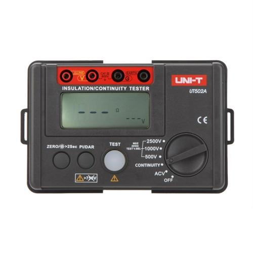 UNI-T UT502A 2500V isolamento resistenza Tester voltmetro megaohmmetro continuità Tester w/LCD retroilluminazione