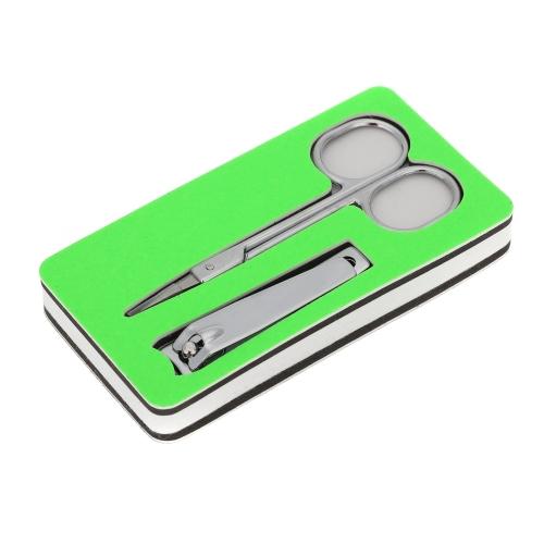 2 in 1 Berufsedelstahlpflege Schere Nagelknipser Maniküre Pediküre Werkzeug Set
