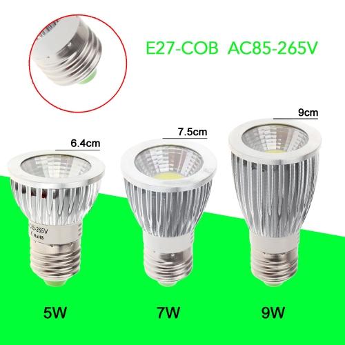 E27 9W s/n Spot LED Lampe ampoule haute puissance économie d'énergie 85-265V