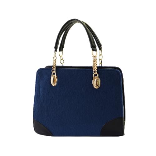 Nowa moda damska torebka Faux Fur PU skórzana torba Crossbody Chain Bag