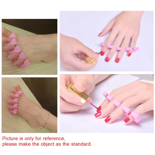 10 Pair Toe Finger Separator Soft Foam Nail Tools Feet Care Tool