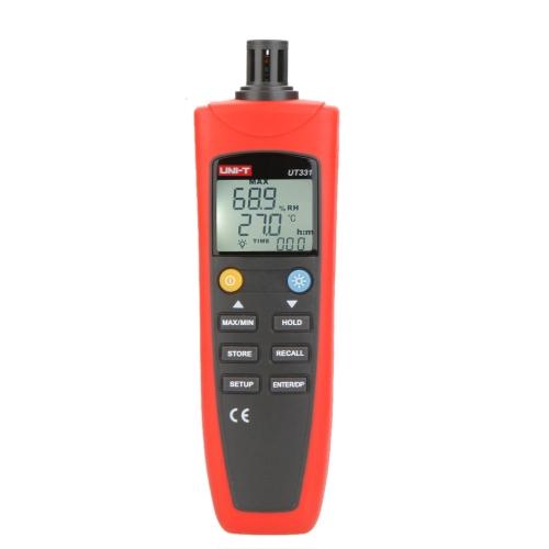 UNI-T UT331 Digital Thermo-hygrometer Temperature Humidity Moisture Meter Tester w/LCD Backlight & USB