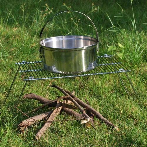 All'aperto cucina Picnic viaggio campeggio barbecue portatile pieghevole ferro Grill peso leggero