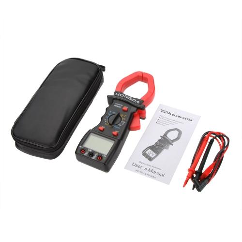HD HD9591 Digital Clamp Meters Ammeter Voltmeter Ohmmeter w/Frequency Test & LCD Backlight