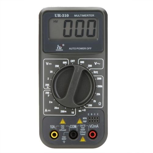 HD UR-310 Mini Digital Multimeter DMM Ammeter Voltmeter Ohmmeter Continuity Tester w/hFE Test
