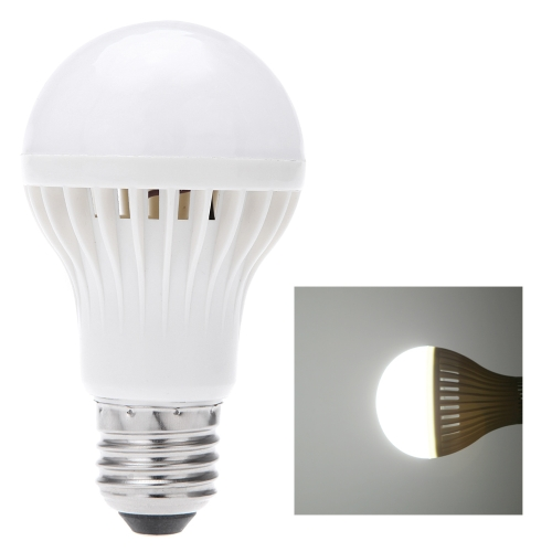 E27 7W Sound & Light Sensor Auto Detection LED Light Lamp Bulb AC85-265V