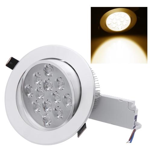 12 * 1W светодиодные утопленный потолка вниз света лампы прожектора крытый для домашней гостиной украшение освещения с водителем AC85-265V