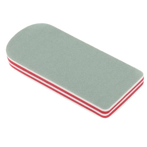 10pcs profissional engrossado duplo lado as limas para unhas ferramentas Glitter Mini forma lavada lixa de polimento