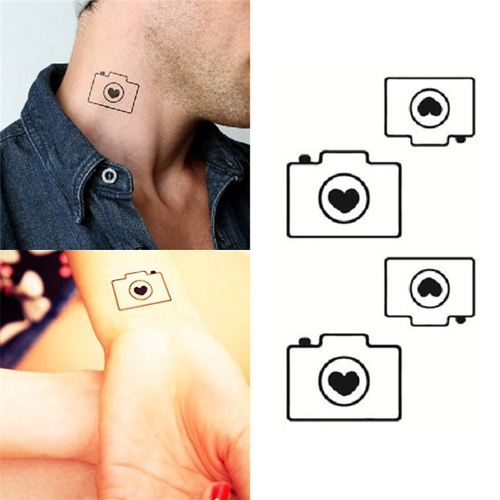 Tattoo Aufkleber Kamera Muster wasserdicht temporäre Tätowierung Papierkörperkunst