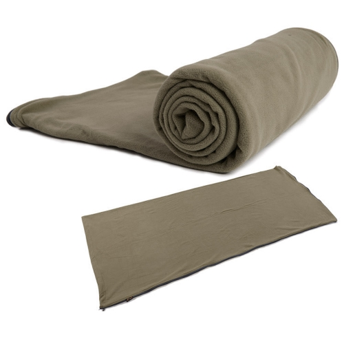 Outdoor Polar Fleece Healthy Sleeping Bag Liner Portable Camping Travel Hiking Multifunction Ultra-light