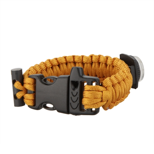 Multi-color Paracord Parachute Cord Emergency Kit Survival Bracelet Rope with Whistle Buckle Compass Flint Fire Starter Outdoor Camping