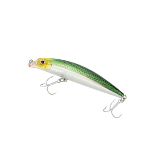 10g 9cm Trulinoya ojos 3D Minnow flotante CrankBait pesca señuelo duro Treble Hook buceo 0,5 m con caja lleva