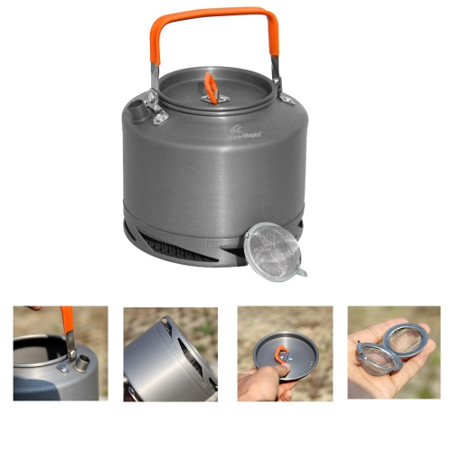 Lixada 1.5L pentola per campeggio Picnic/ Fire Maple FMC-XT2 Heat Collecting Exchanger Kettle/teiera con filtro+Borsa Mesh