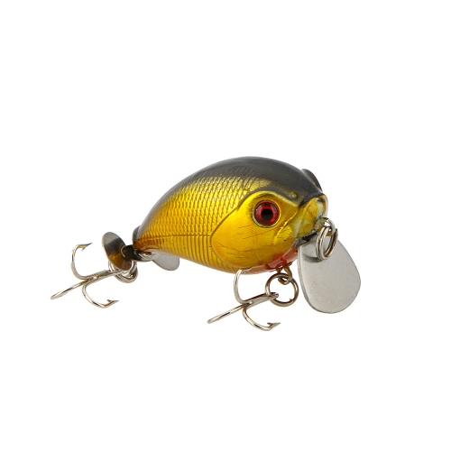 14g 5cm realistiche piccola pesca difficile Lure paffuto Crank Bait affrontare con acuti ganci immersioni 1m