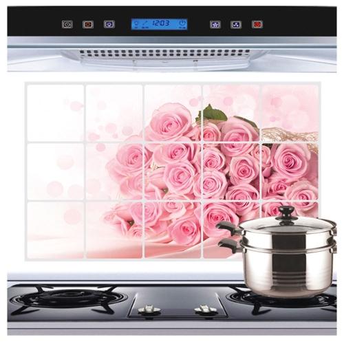 Pink Rose Wandtattoo Fur Kuchen Kunst Dekoration Abluft Fett Ol
