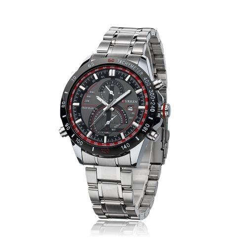 CURREN 8149 negócios homens relógio resistente à água inox quartzo analógico calendário relógio de forma