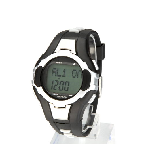 Portable Heart Rate Pulse Monitor Calorie Counter Outdoor Fitness Sport Wrist Watch Without Chest Strap Silver