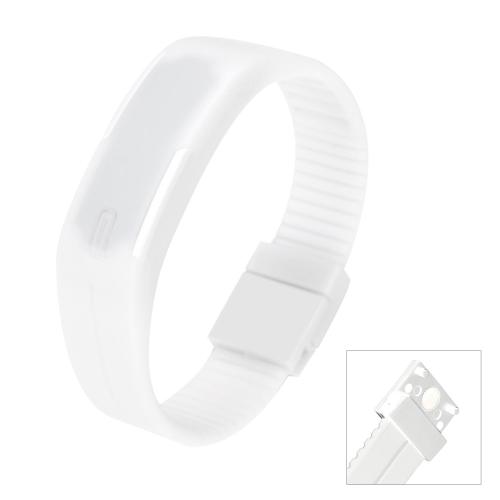 LED deporte reloj resistente al agua Digital pulsera de moda para los hombres y las mujeres blancas