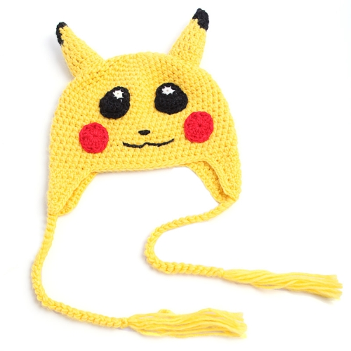 Historieta adorable Animal caliente lana tejida casquillo del invierno sombrero para niños