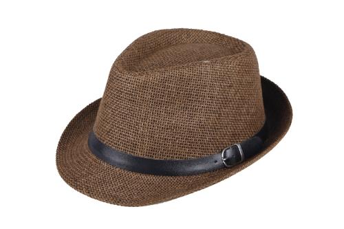 Moda mujeres hombres sombrero Fedora sombrero gorro paja playa sombrero café Unisex correa