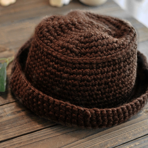 Mujeres dulce lindo niños caliente sombrero gorra café de punto