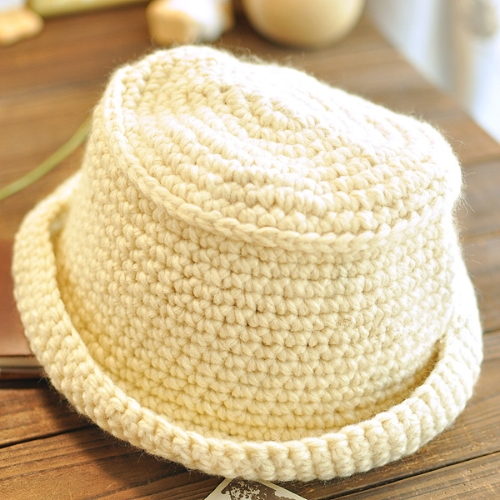 Mujeres dulce lindo niños caliente sombrero blanco gorro de punto